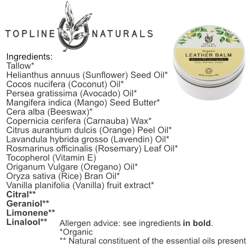 Leather Balm Ingredients List