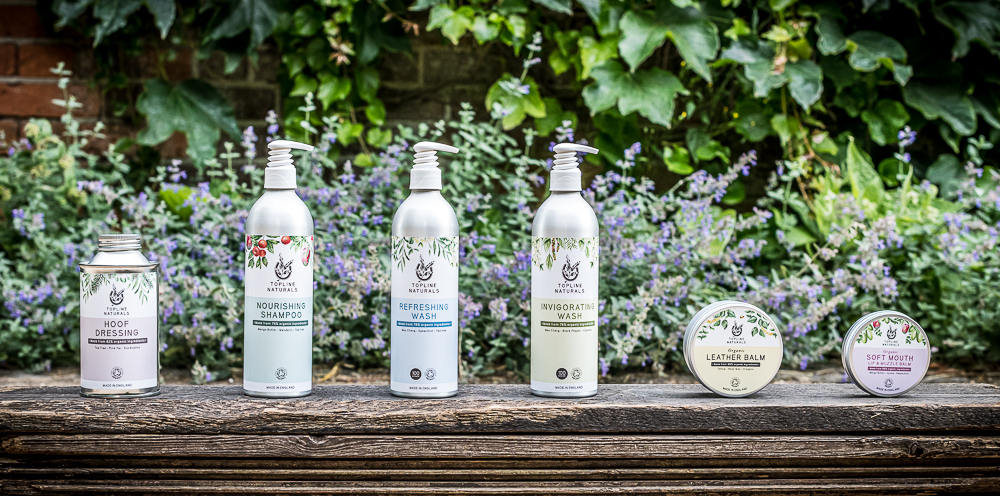 Group Line-up Of Topline Naturals Horse Care Range